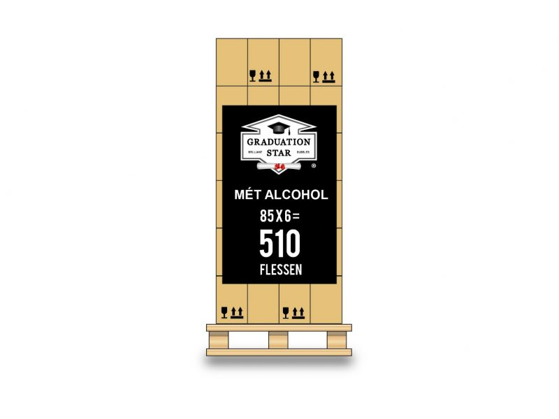 Pallet 510 flessen GRADUATION STAR® met alcohol