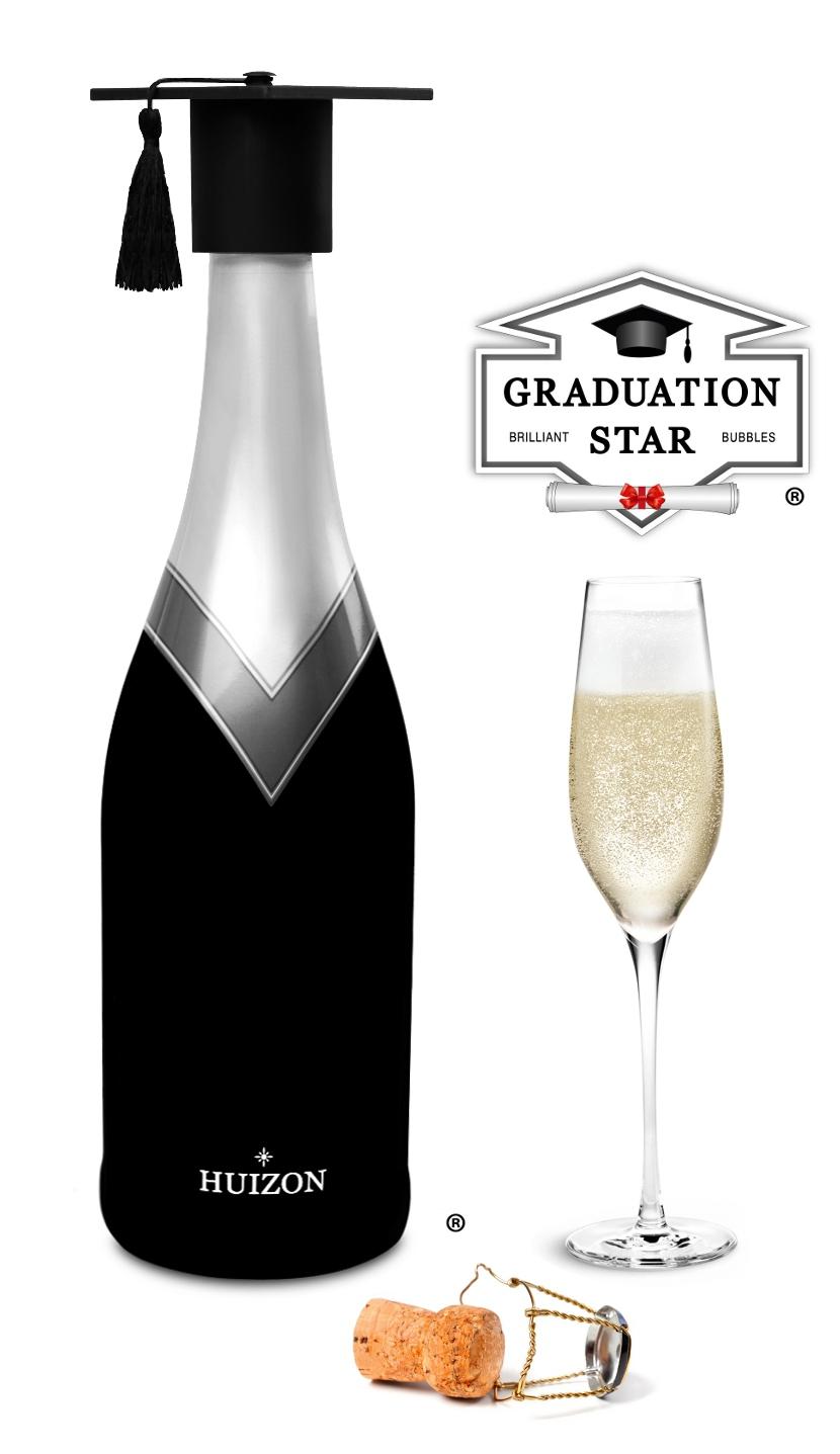 Huizon-Graduation-Star-Geslaagd-Fles-Afstuderen